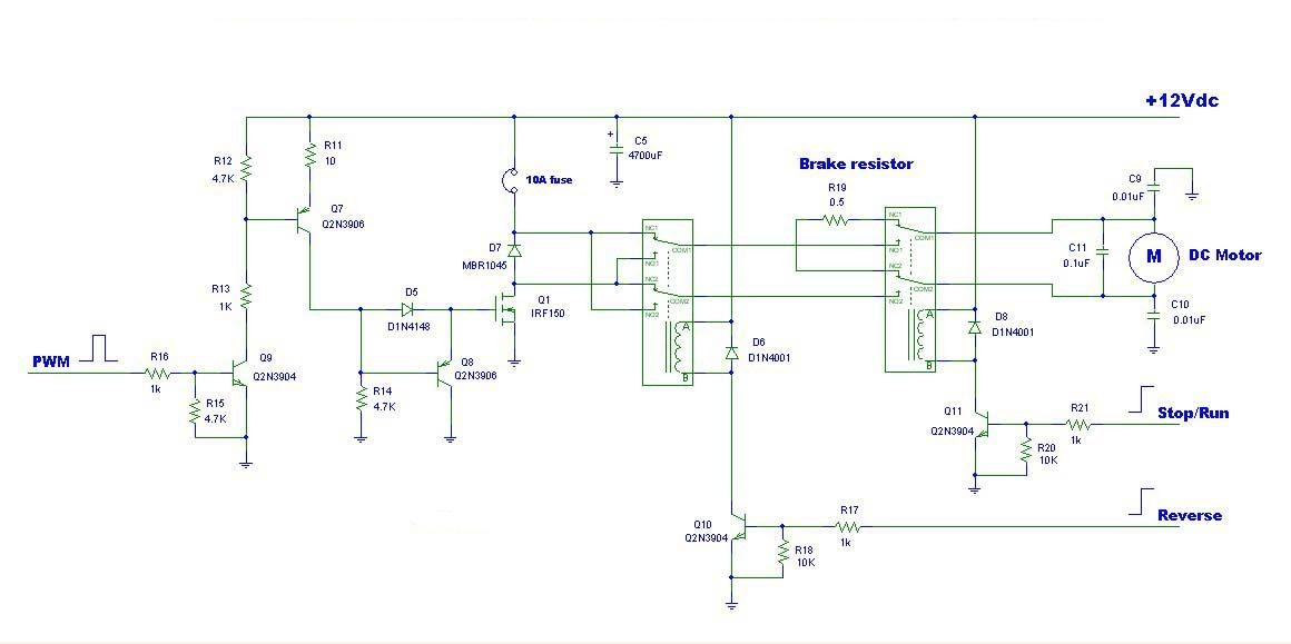 Pwm dc motor driver ic schematics for Dc motor driver ic