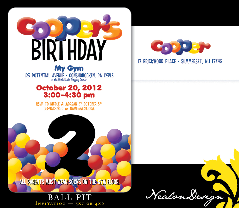 Nealon Design: BALL PIT Birthday Invitation
