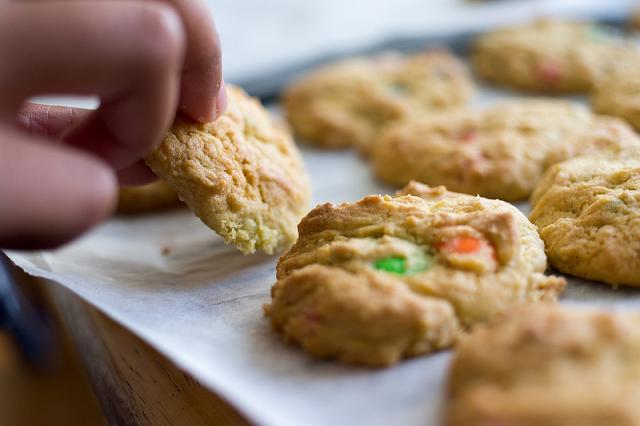 cookie recipe, M&M cookies
