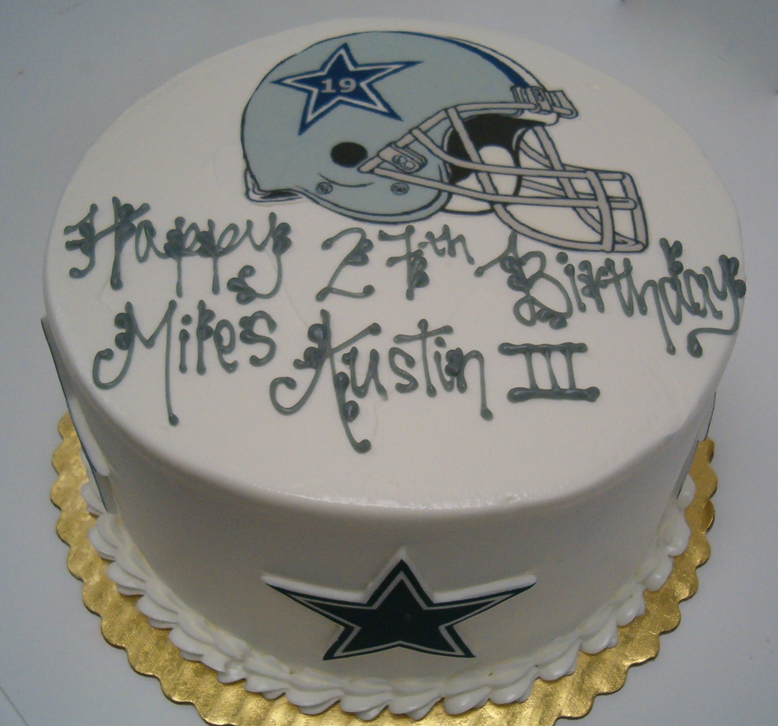 The Art Of Cake A Birthday Cake For A Dallas Cowboy Named Miles