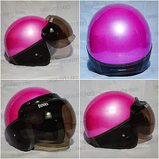 Helm Policia Pink + Mika Bogo