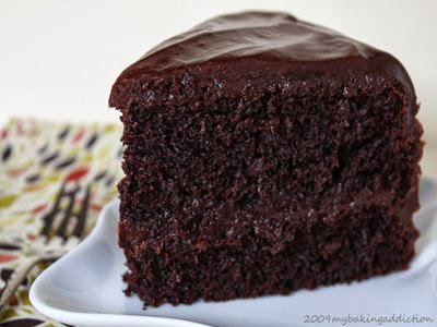 Hershey S Black Magic Cake With Ganache Frosting