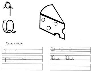 atividade caligrafia letra q