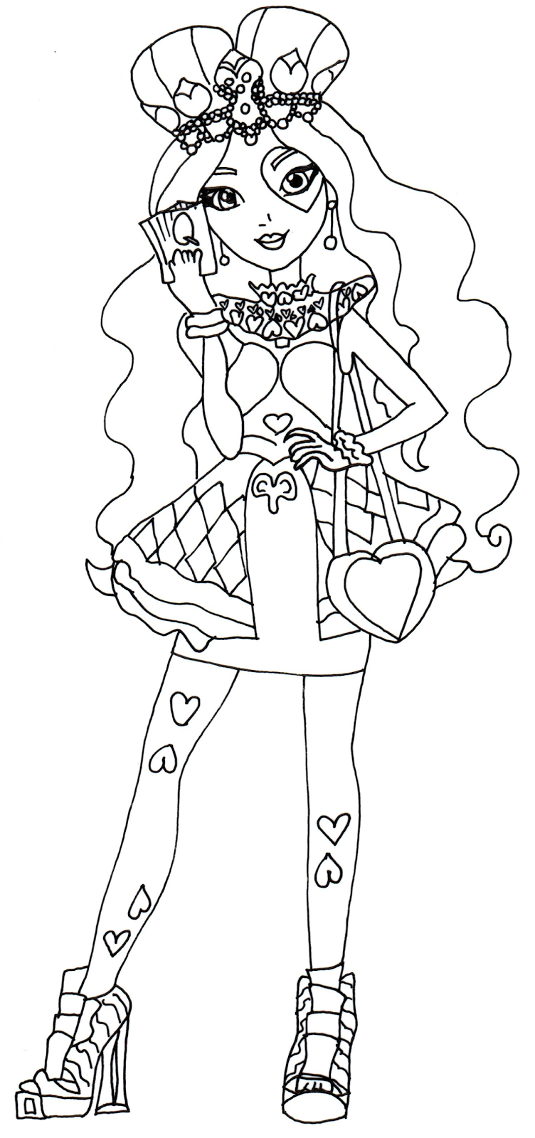 Free Printable Ever After High Coloring Pages Lizzie Hearts Ever After High Coloring Page