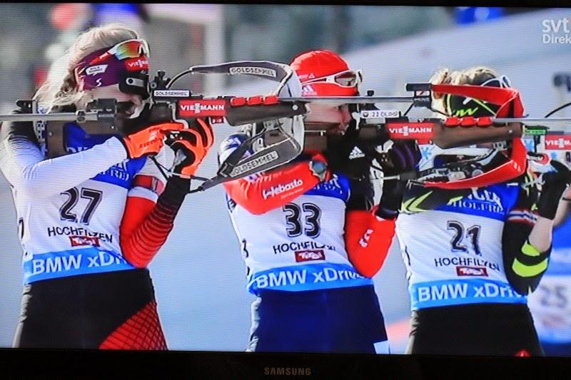 Biathlon a Hockfilzen, Austria-immagini dalla televisione svedese