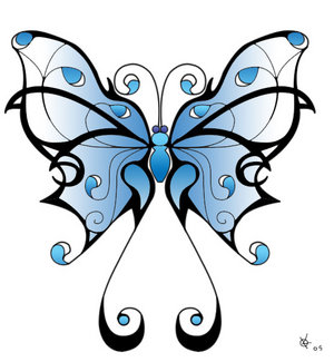 Tribal Butterfly Tattoos,Butterfly Tattoos,tattoos