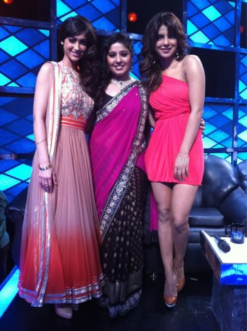The Barfi! Team on the sets of Indian Idol.