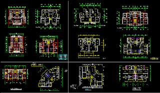 Plan Autocad pour différents types d'appartements dwg Plan+Autocad+appartements+dwg