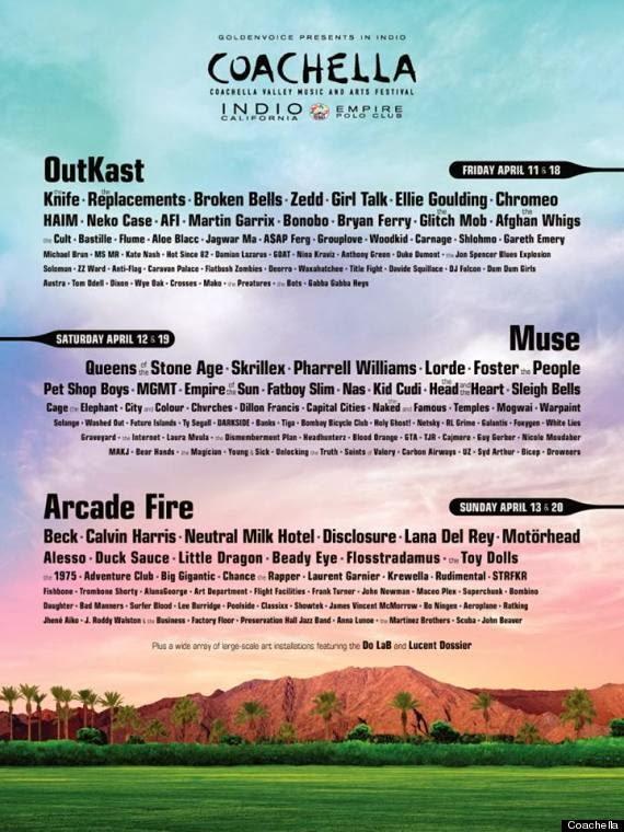 Arcade Fire, Coachella 2014, Muse, OutKast, Outkast headline Coachella 2014