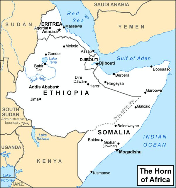 ANTHROPOLOGY OF ACCORD Map on Monday THE HORN OF AFRICA