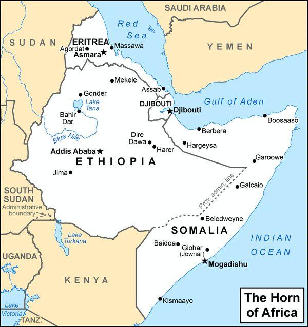 africa map horn of africa