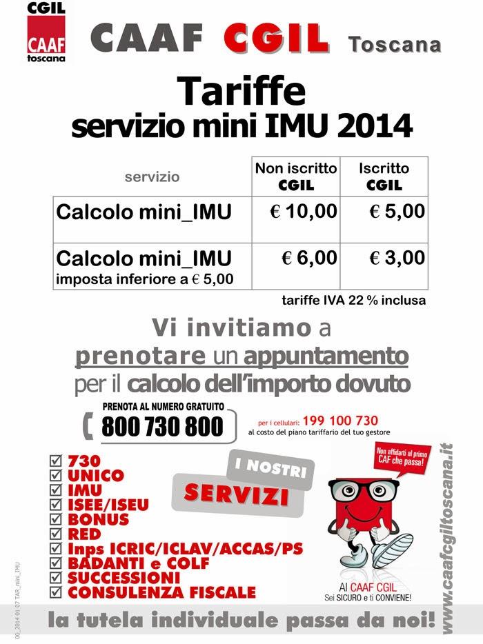 Quarrata news quotidiano on line mini imu ecco le tariffe della cgil - Calcolo imu 2 casa 2014 ...