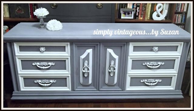 ascp, custom color, old violet, white, dresser, makeover, contrast, colors, annie sloan