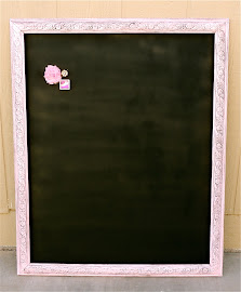 Shabby Chic Pink Magnetic Chalkboard ($50)