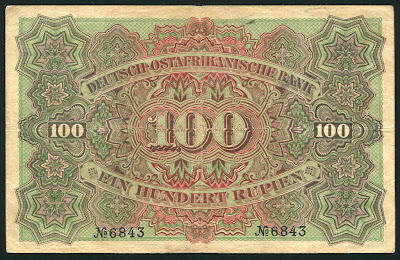 German East Africa 100 Rupien note