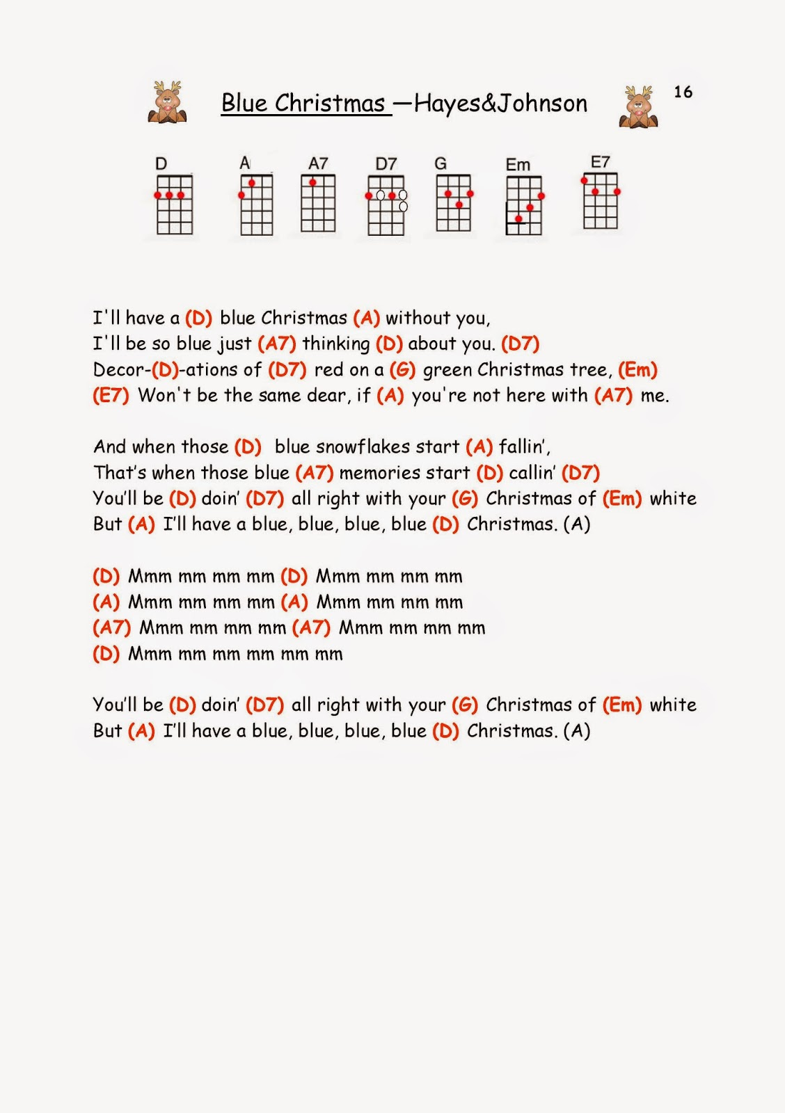 Funky Blue Christmas Piano Chords Image Collection Song Chords