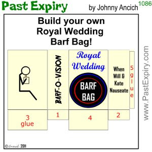 [CARTOON] Royal Wedding Barf Bag cartoon, British, relationships