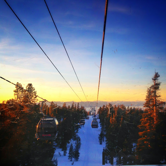 Gondola ride up to Heavenly Mountain Resort