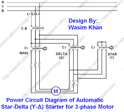 Power Circuit Diagram of Automatic Star Delta (Y %CE%94) Starter for 3 phase Motor . electricaltechnology1.blogspot.com new lincoln electric motor wiring diagram lincoln electric parts lincoln electric wiring diagram at bakdesigns.co