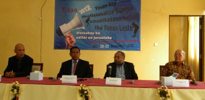 Tinan Komunikasaun Sosial SEKM Organiza Workshop Jornalista ho Edito