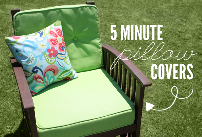 5 Minute Pillow Covers Tutorial Wonder Forest Design