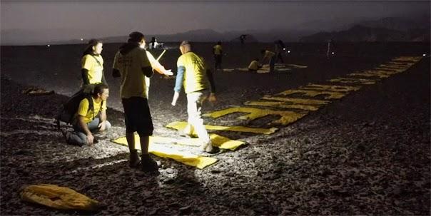"""Greenpeace """"abofetea"""" a Perú dañando gravemente las lineas de Nazca. Gp01"""