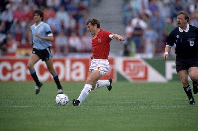 Groupe d espagne 1986 emilio butragueno mexico86 - Ballon coupe du monde 1986 ...