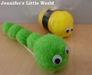 Bee and caterpillar junk modelling