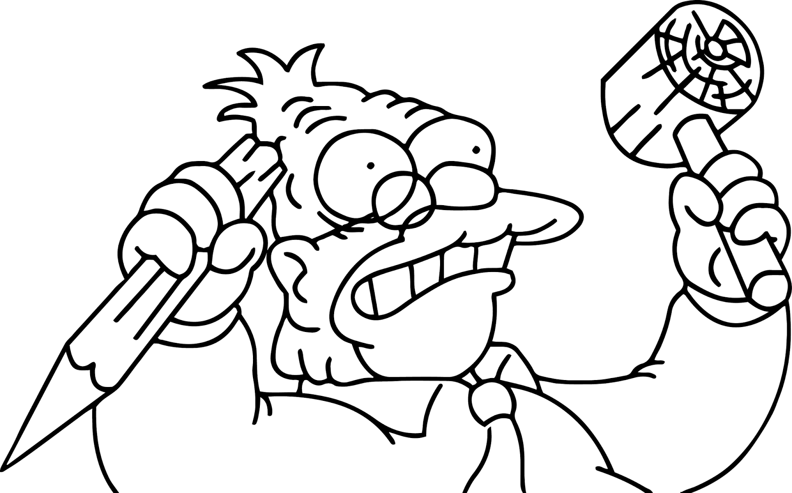homer simpson halloween coloring pages - photo#20