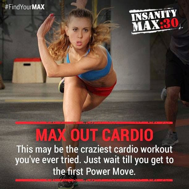 Insanity Max 30 - Max Out Cardio - Insanity Max 30 Workout Sheets