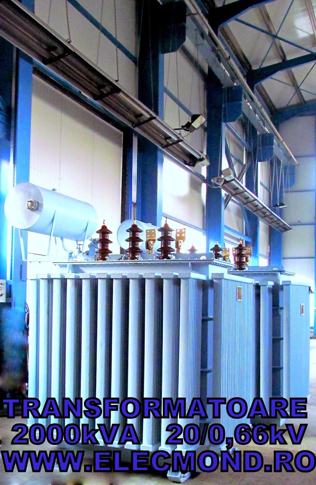 Transformatoare 2000 kVA 20/0,66kV , transformator 2 MVA 20/0,66kV  , transformatoare Elecmond Electric , trafo 2 MVA , transformatoare 2000 kVA , ELECMOND