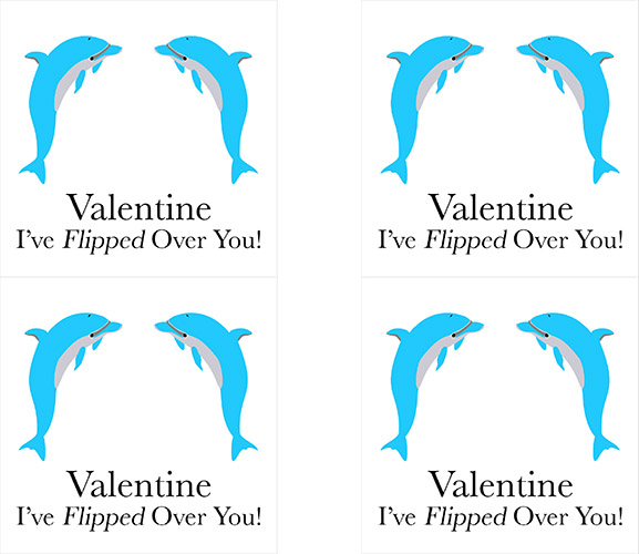 Craftiments:  Dolphin valentine front