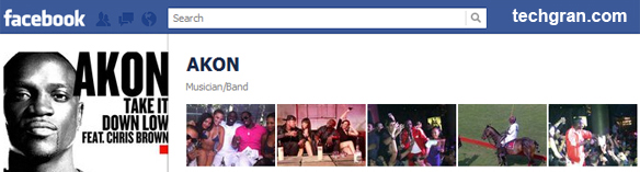 AKON on Facebook, Musician/Band