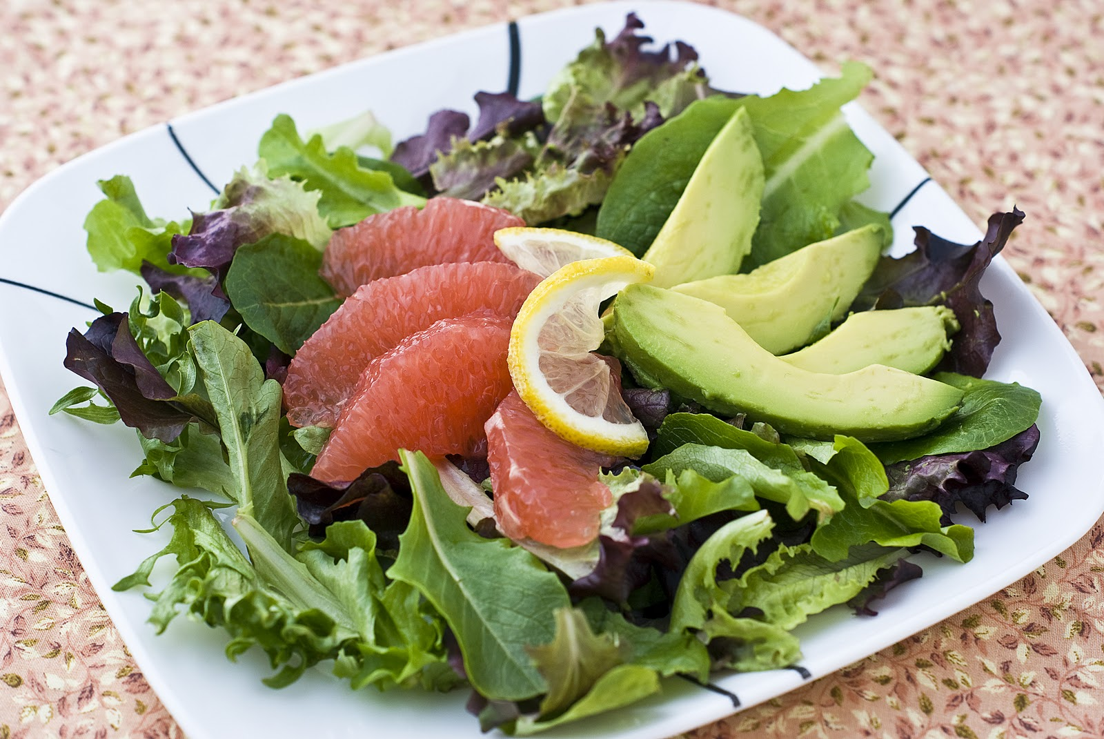 Grapefruit Avocado Salad ~ Heat Oven to 350