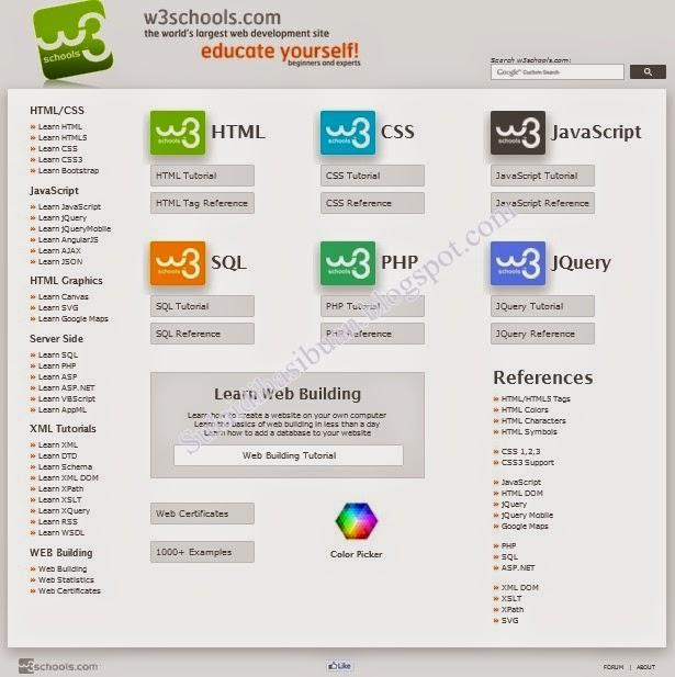 Cara Mudah Belajar Web Pemrograming Dengan Tutorial w3schools