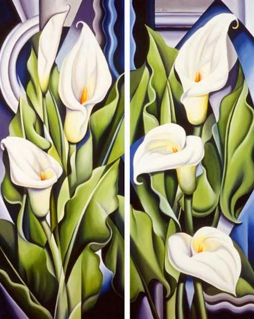 diptico-flores-al-oleo