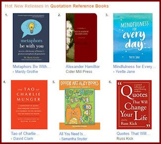 Hot new books of quotations