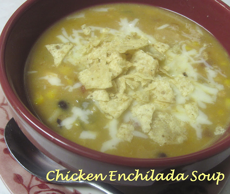 The Better Baker: {Slow-Cooker} Chicken Enchilada Soup