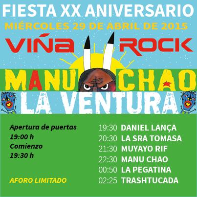 XX Aniversario, Viña Rock 2015