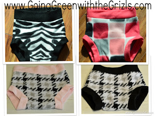various fleece diaper covers