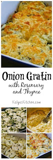 Onion Gratin with Rosemary and Thyme [found on KalynsKitchen.com]