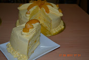 Snowy Peach Custard Cream cake RM70 1.7++ kgs 1/2 recipe RM45