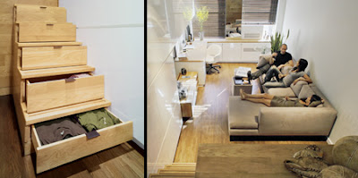 tiny 500 square foot apartment in New York