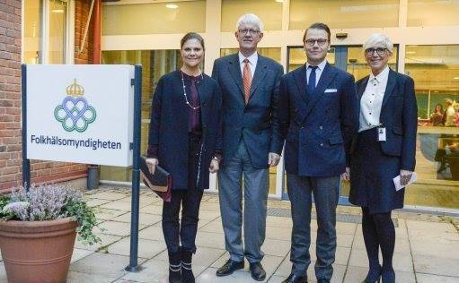 Crown Princess Victoria visited the Public Health Agency of Solna