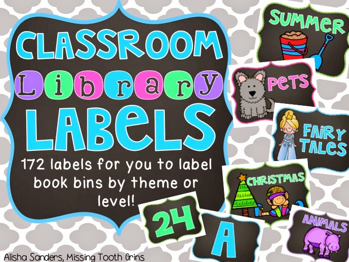 http://www.teacherspayteachers.com/Product/Classroom-Library-Labels-Chalkboard-1347740
