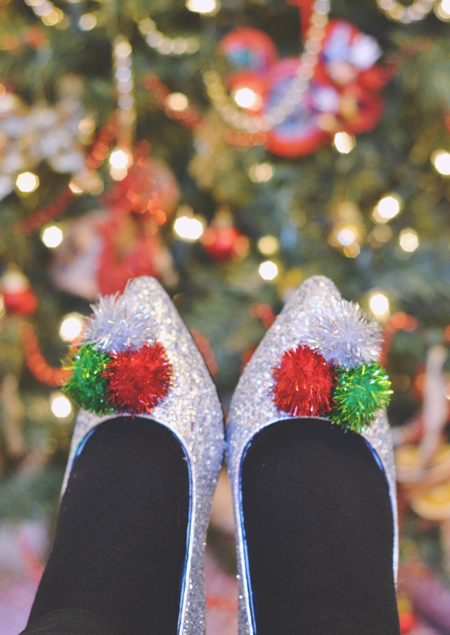 ASOS Christmas pom pom Lapland shoes