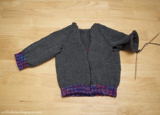Knitting hoodie