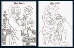 st joseph coloring pages and activities catholic inspired