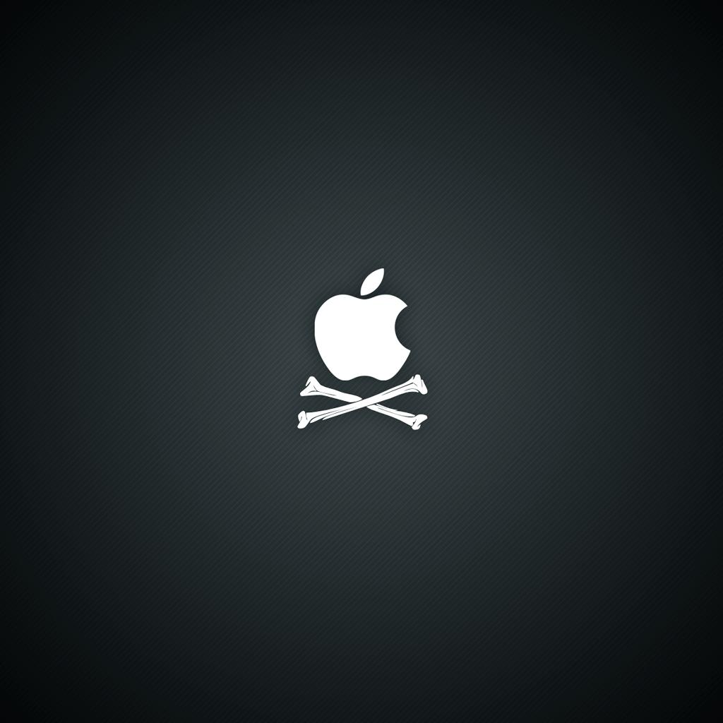 pirate apple logo ipad ipad 2 wallpapers beautiful