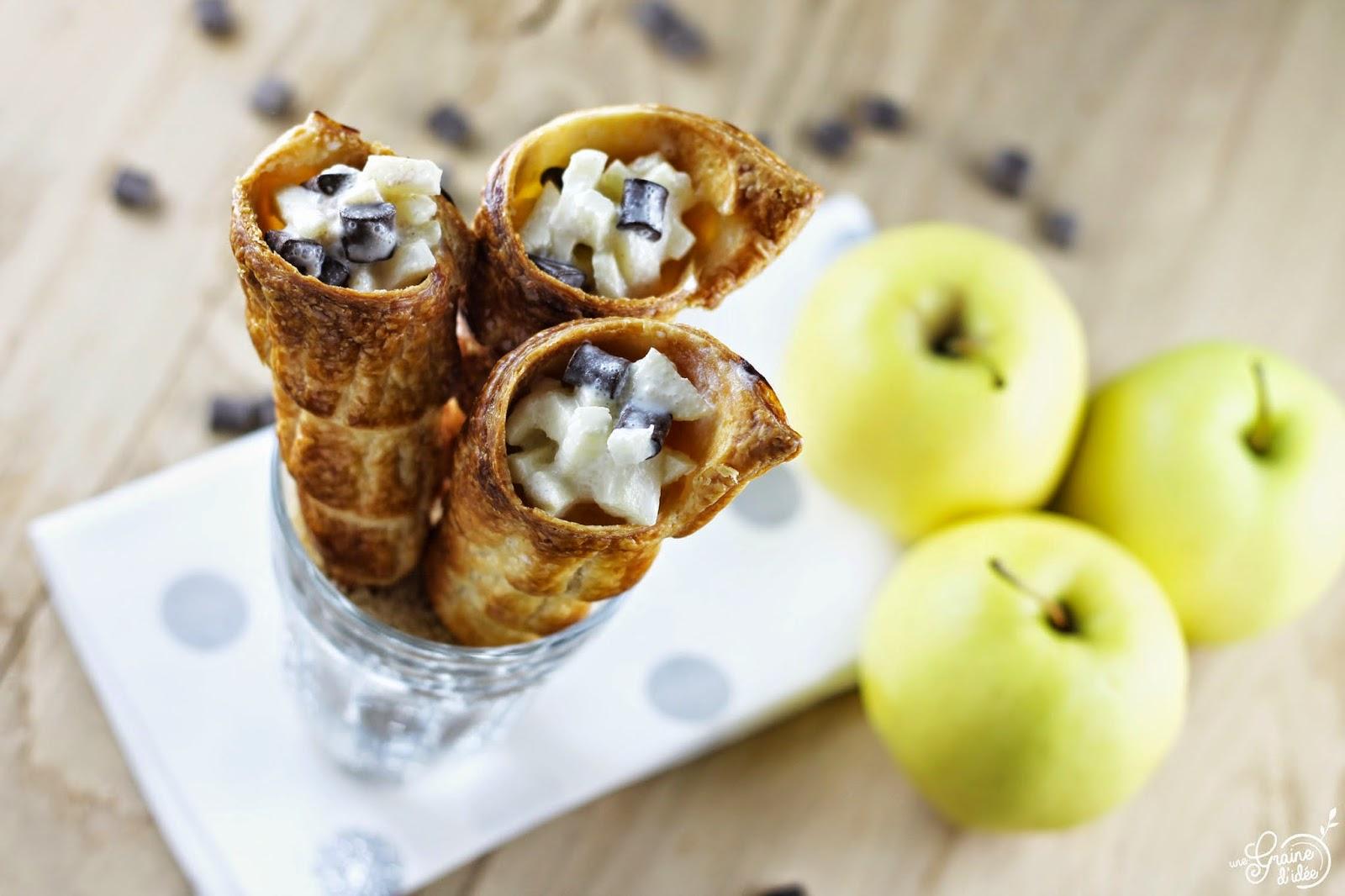 Cônes Pomme et Chocolat - Une Graine d'Idée